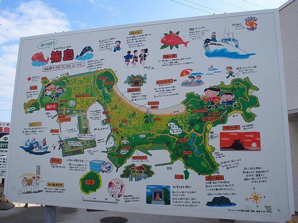 篠島の地図