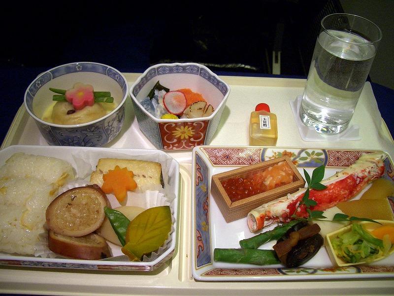 ■ 全日空 米国線(往き) ビジネスクラスのお料理
