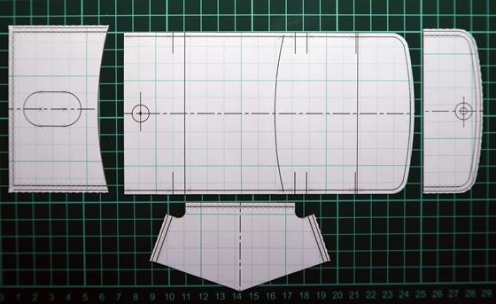 ヌメ革コインケース3号型紙