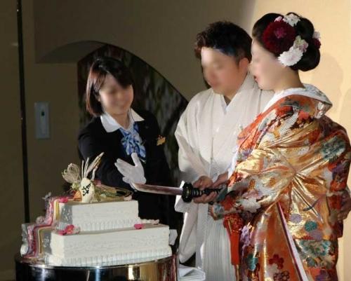 結婚式ケーキカット
