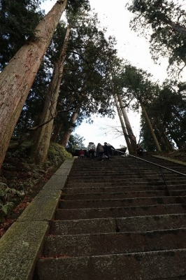 延暦寺・文殊楼への石段