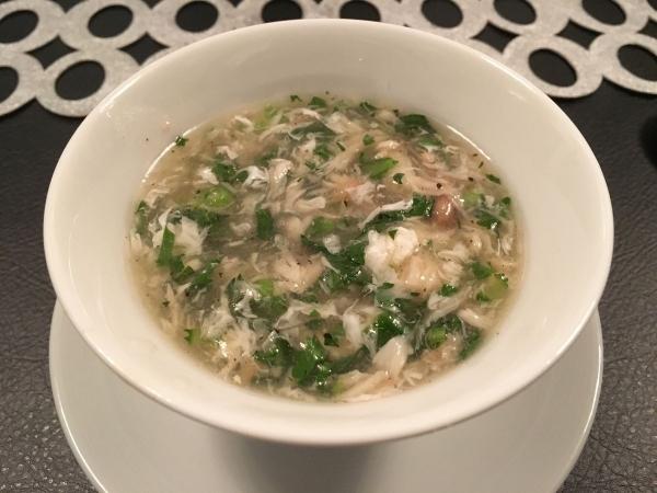 2017-12-12 白身魚と春菊のスープ