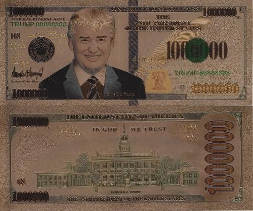 トランプ金紙幣 表