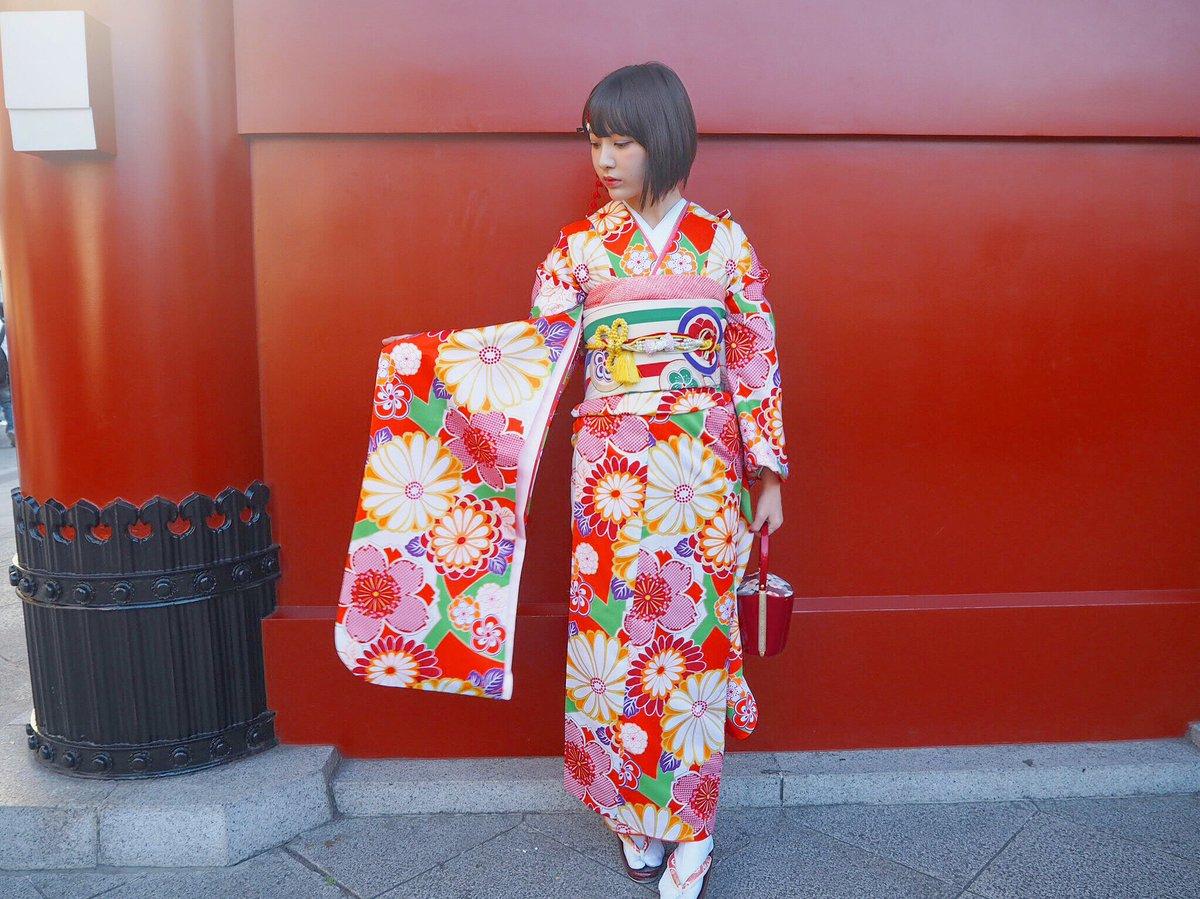 HKT48の宮脇咲良ちゃん『初詣』【公式Twitterより】 2018 晴れ着 2
