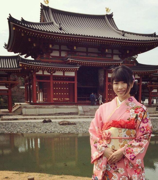 【AKB48】横山由依「この度 『京都やましろ観光大使』に就任しました!」【ゆいはん】 平等院 2018 晴れ着