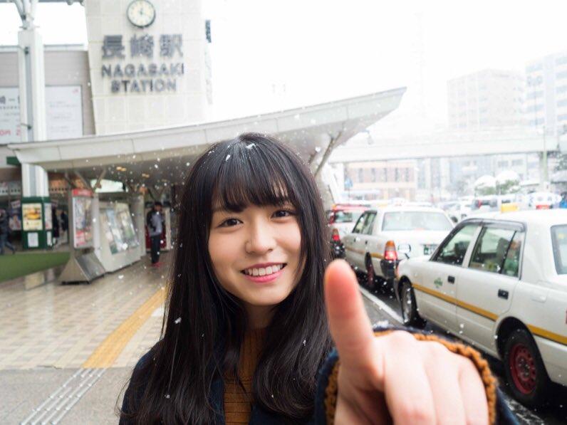 長濱ねる 雪 2018 冬 長崎駅前 4