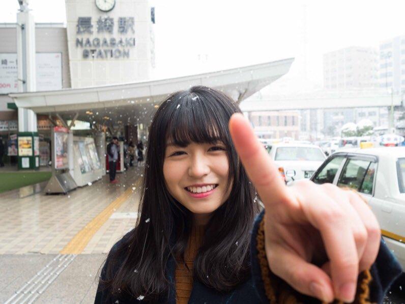 長濱ねる 雪 2018 冬 長崎駅前 5