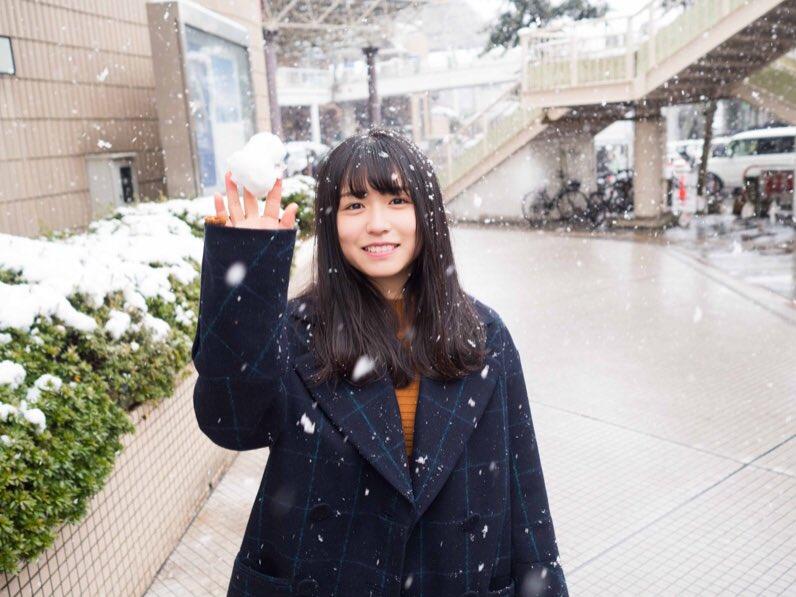 長濱ねる 雪 2018 冬 長崎 2