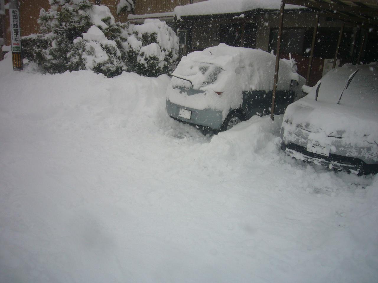 車両前除雪 H30.1.13