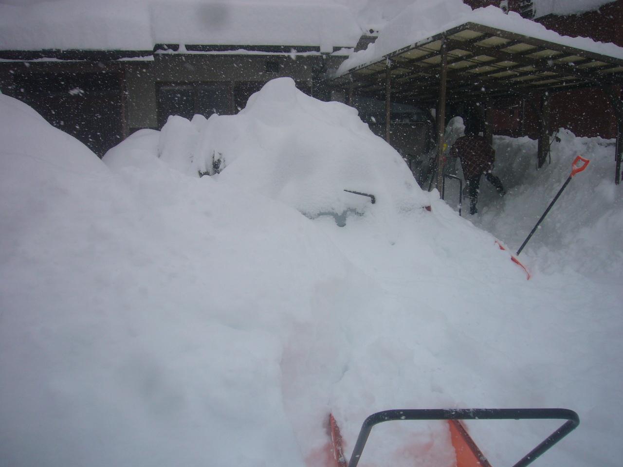雪車とカーポート H30.2.06