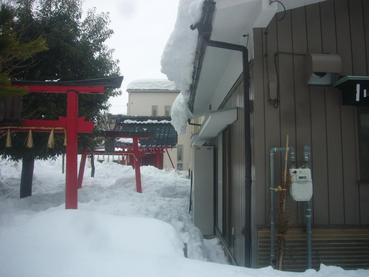 稲荷大明神 落雪 H30.2.10
