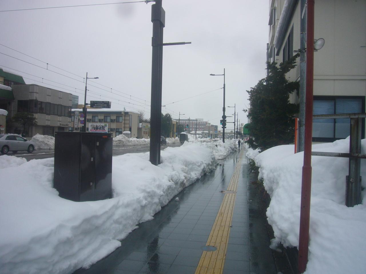きれいに除雪された歩道 H30.2.10