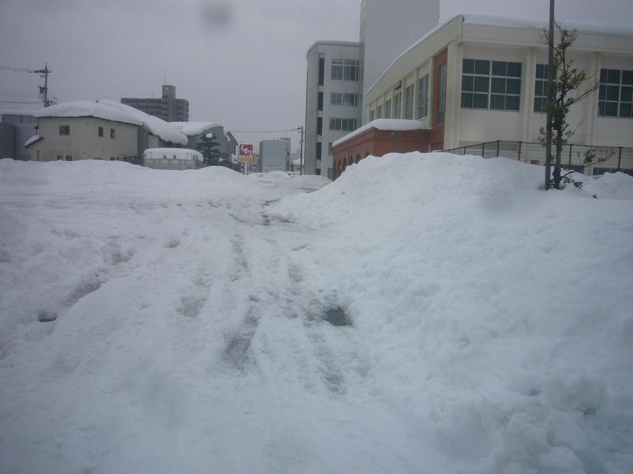 ぐちゃぐちゃ雪 H30.2.10