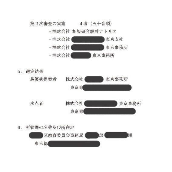 選定結果の公表2