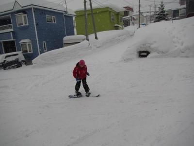 スノーボード練習