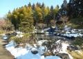残雪の日本庭園①