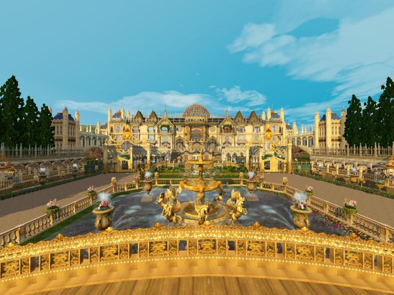 ストーリー『The Crowns』で使用予定のフランスをイメージした国のお城と庭園。