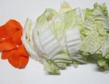 白菜ベーコン 調理①