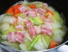 白菜ベーコン 調理④