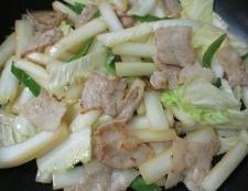 豚バラと白菜の炒め物 調理⑥