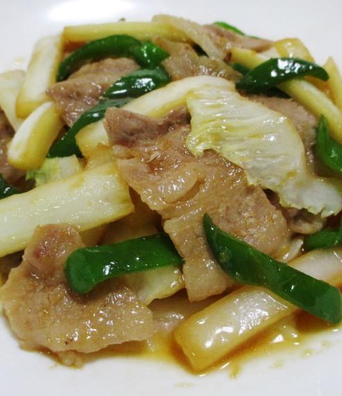 豚バラと白菜の炒め物 拡大