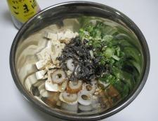 豆腐の塩昆布和え 調理④