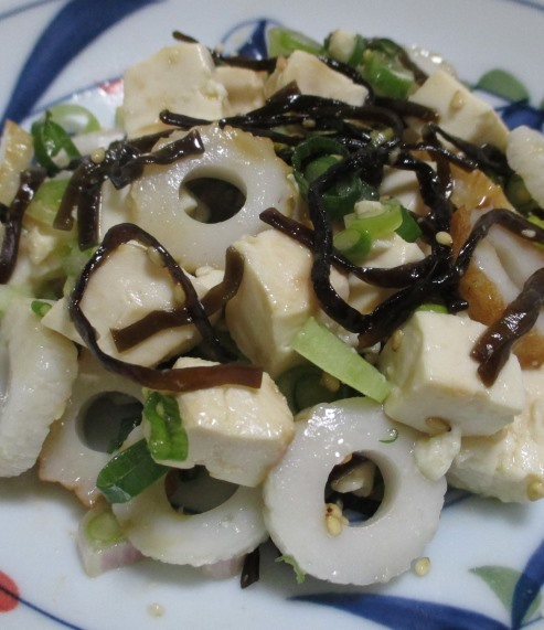 豆腐の塩昆布和え 拡大