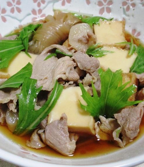 豚肉と絹揚げの煮物 拡大