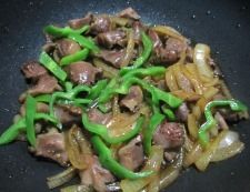 砂肝のピリ辛七味炒め 調理⑥