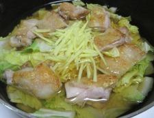 鶏もも肉と白菜のしょうが煮 調理⑥