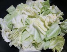 キャベツと豆腐のホイコーロー風 調理④