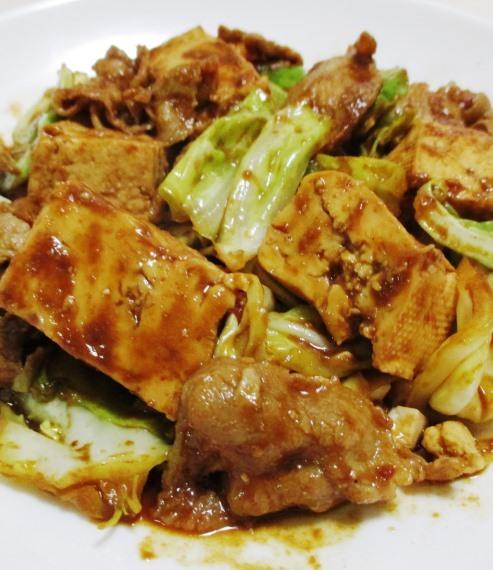 キャベツと豆腐のホイコーロー風 B