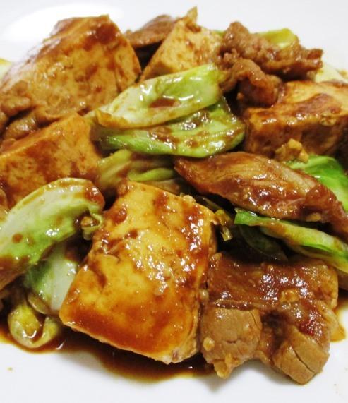 キャベツと豆腐のホイコーロー風 拡大