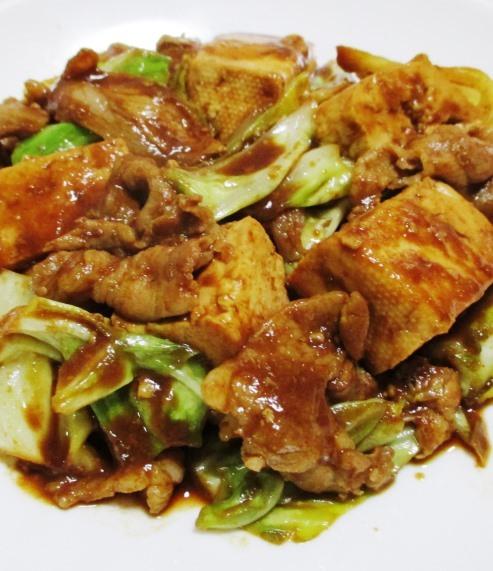 キャベツと豆腐のホイコーロー風 大