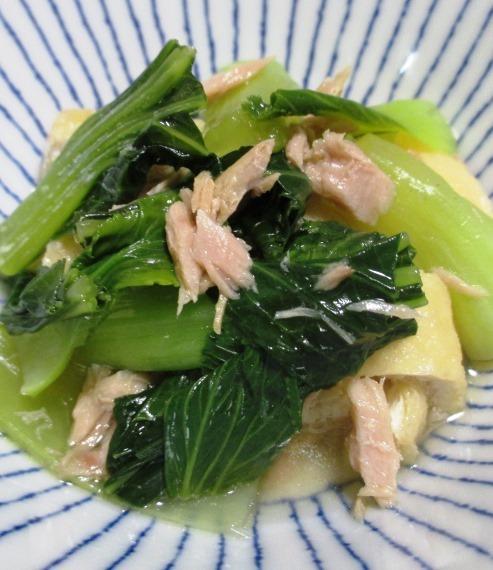 ツナと青梗菜の煮物 大
