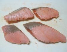 甘塩鮭の炊き込みご飯 調理③