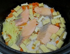 甘塩鮭の炊き込みご飯 調理⑤