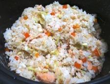 甘塩鮭の炊き込みご飯 調理⑥