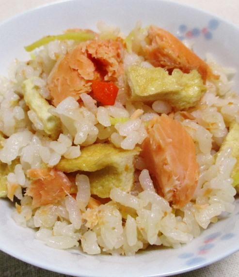 甘塩鮭の炊き込みご飯 B