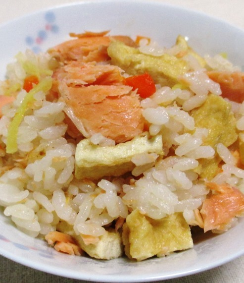 甘塩鮭の炊き込みご飯 大
