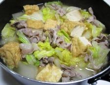 白菜と厚揚げの煮物 調理⑤