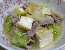 白菜と厚揚げの煮物 調理⑥