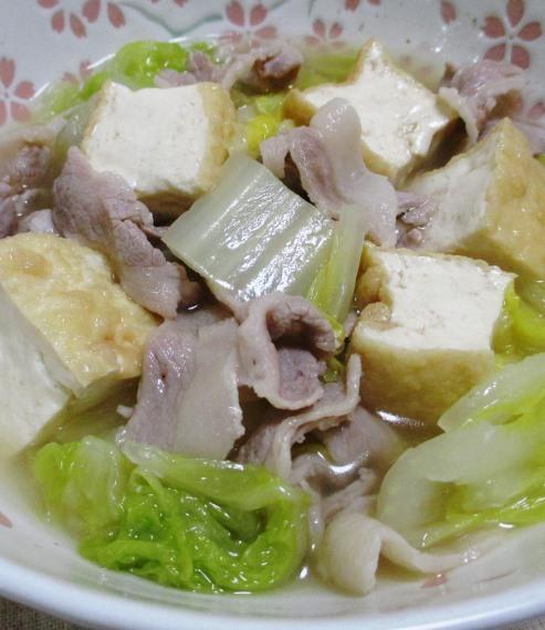白菜と厚揚げの煮物 B