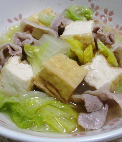 白菜と厚揚げの煮物 拡大
