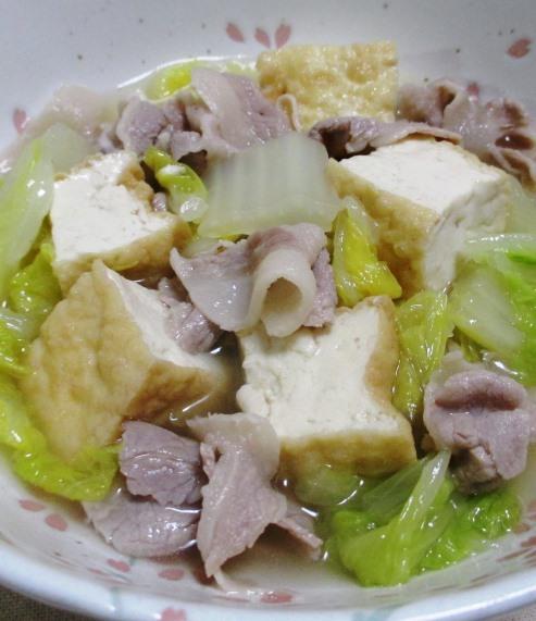 白菜と厚揚げの煮物 大