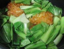野菜天と青梗菜 調理②