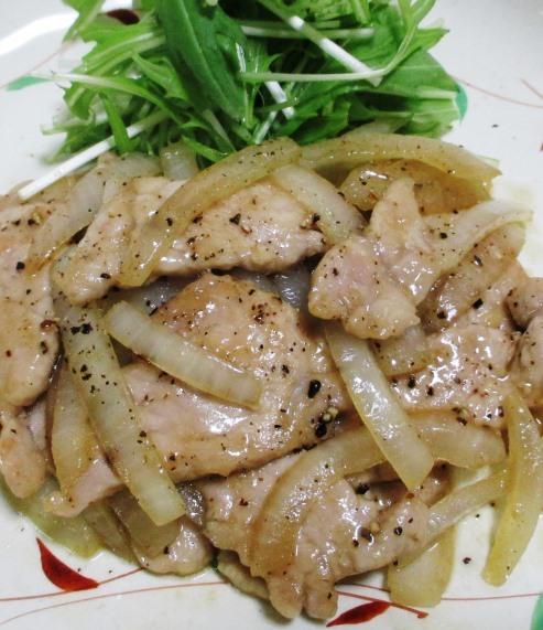 豚ロースの黒胡椒炒め 拡大