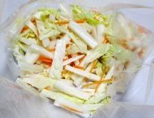 白菜の芯の甘酢漬け 調理②