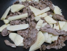 牛肉のオイスターソース炒め 調理④