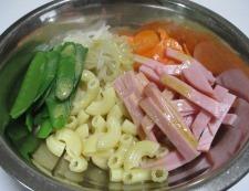 きぬさやマカロニサラダ 調理⑤